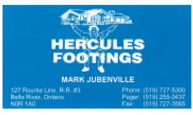 Hercules Footings
